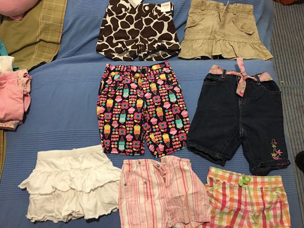 Girls size 3T, Jean shorts, shirts, summer shorts