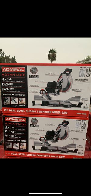 """12"""" Dual-Bevel sliding compound miter saw for Sale in Ontario, CA"""