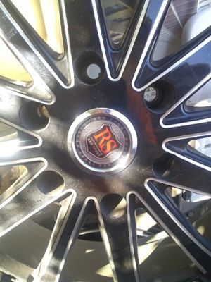 "RS 20"" BLACK & SILVER RIMS 6 lugs for Sale in Madera, CA"