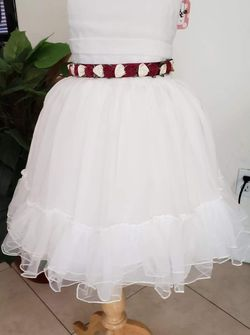 Ivory Dress Band Color Can Be Changed/ Girl Dress/ Event Dress/ Flower Girl Dress for Sale in Ontario,  CA