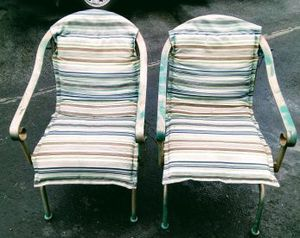2 wright iron look outdoor rocking chairs for Sale in Medford, OR