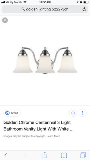 New and in box 3 light chrome vanity for Sale in Manteca, CA