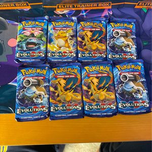 8 unopened and sealed Pokemon XY evolutions booster packs for Sale in Fullerton, CA