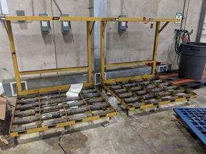 Battery rack with charging station for Sale in Bensenville, IL
