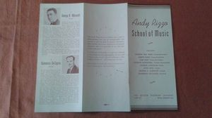Antique Andy Rizzo School of Music Brochure & Sheet Music Advertisement 1930-40s for Sale in Orlando, FL