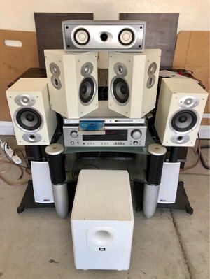 DENON / Polk Audio Complete Dolby Digital Home Theater System w/ Bluetooth adapter & DVD/CD/CDMp3 for Sale in Phoenix, AZ