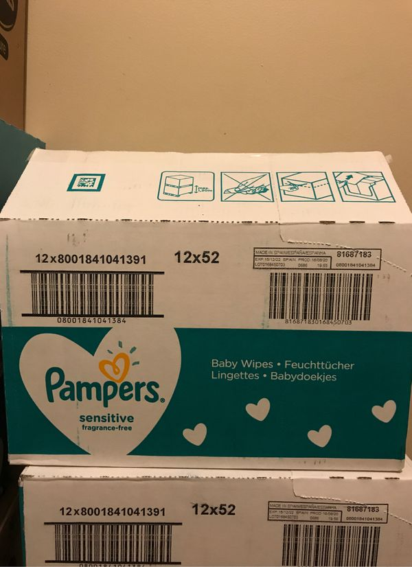 One Box of Pampers Baby Wipes (yes available)