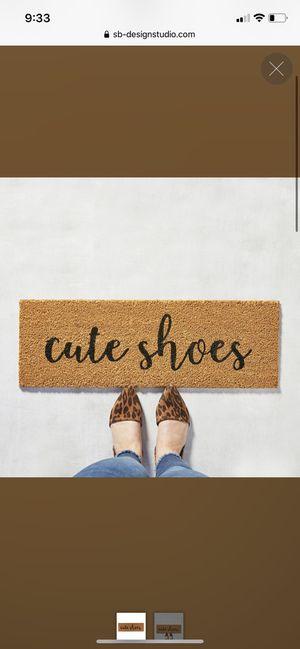Cute shoes doormat for Sale in Colorado Springs, CO