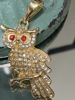 Owl Gold Plated Pendant With Clear CZ for Sale in Nashville,  TN