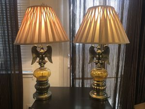 Set of rare vintage antique eagle lamps for Sale in Alexandria, VA