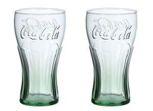 Brand New Vintage Genuine Coca-Cola Coke Green Glass , 16 oz.- set of 2 cups for Sale in San Jose, CA