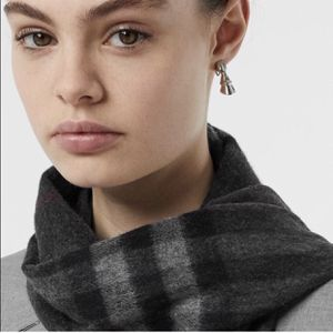 Burberry Classic Check Cashmere Scarf in Charcoal for Sale in Bend, OR