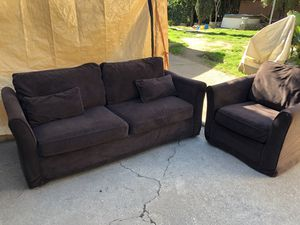 Brown Sofa & Chair for Sale in Upland, CA