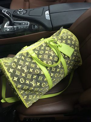 Louis Vuitton Keepall Bandouliere monogram Mesh Yellow See-through for Sale in HOFFMAN EST, IL