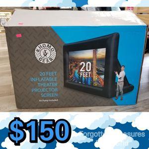 NEW Khomo Gear 20' Inflatable Projector Screen With Air Pump: njft seasonal hsewres kids for Sale in Burlington, NJ