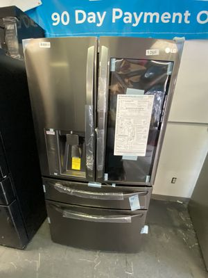 LG French Door 4 Door Black Stainless Refrigerator With Insta View for Sale in Long Beach, CA