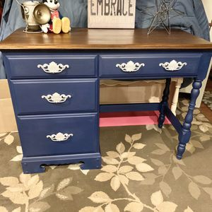 Vintage Beautiful Solid Wood Refinished desk for Sale in Bowie, MD