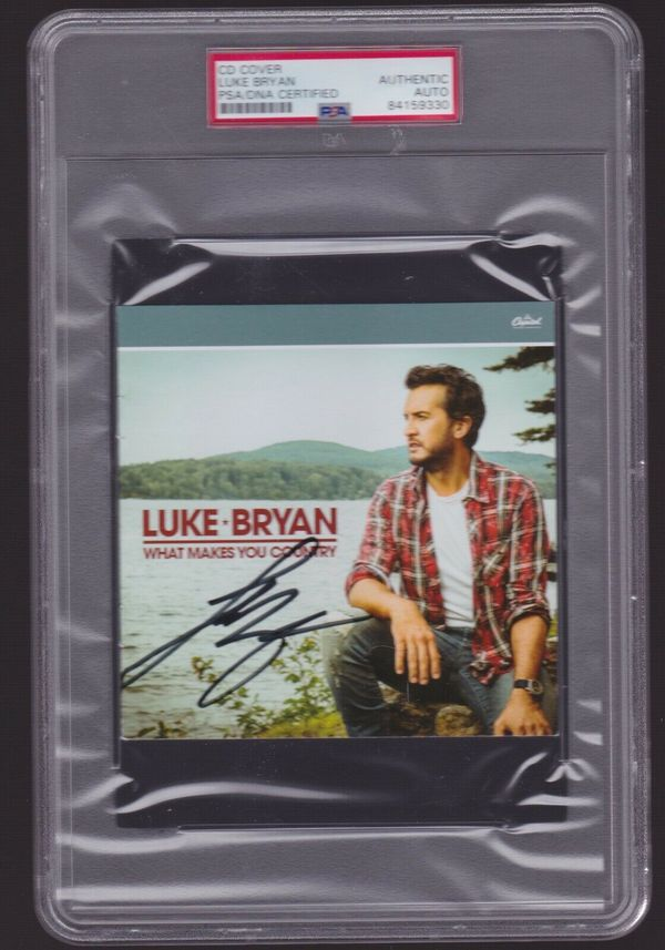 """LUKE BRYAN Signed """"WHAT MAKES YOU COUNTRY"""" CD Cover - PSA DNA slabbed 84159330"""