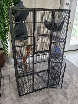 Large Bird cage with stand and storage shelf for Sale in Redlands, CA