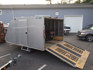 """2018 Nitro 12'x101"""" enclosed hybrid 2 place crossover trailer will trade for Sale in Westford, MA"""