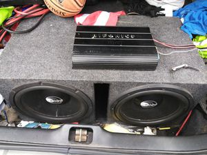 15 inch Pops Speakers in brand new box Hifonics Amp for Sale in Chicago, IL