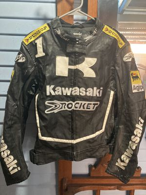 Kawasaki Motorcycle Jacket, Size Med-Sm for Sale in Santa Ana, CA