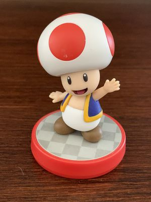 Toad Amiibo Super Mario Series Kinopio Nintendo Figure Party Kart Switch Wii U for Sale in Corona, CA