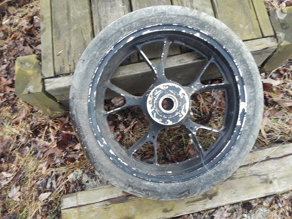 Kawasaki motorcycle rims and tires