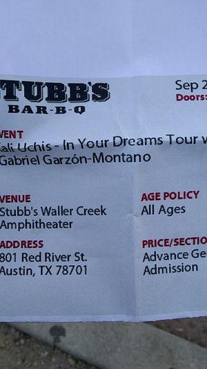 Kali Uchis at Stubb's Amphitheatre tonight for Sale in Austin, TX