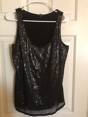 Express sleeveless black/silver sequined top for Sale in Scottsdale, AZ