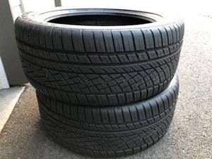 CONTINENTAL EXTREMECONTACT SPORT PLUS 2 TIRES SET ( 275/45ZR20 ) $400 OBO for Sale in Bothell, WA