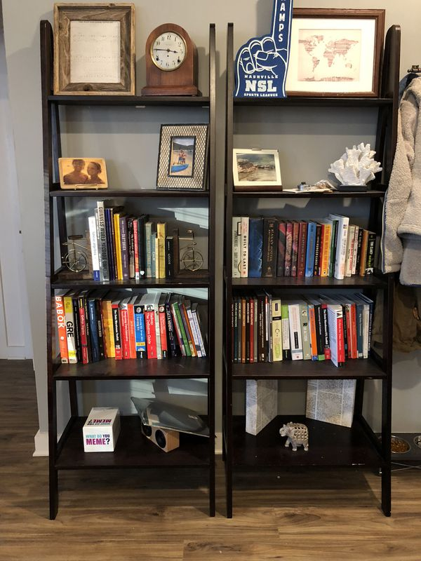 Two tiered bookshelves looking for new homes