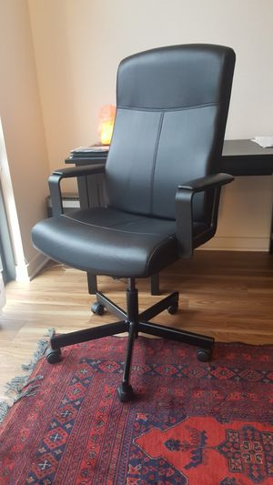 Leather desk chair for office for Sale in Arlington, VA