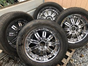 """Set rims 20"""" whit cups $ 160 only wheels for Sale in Cohasset, CA"""