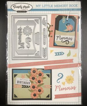 Simply Made Crafts My Little Memory Book 12 Piece Die Set Journal, Tag, Planner for Sale in Rives Junction, MI