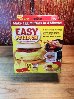 Easy Eggwich 1 Minute Microwave Egg Cooker for Sale in Vallejo, CA
