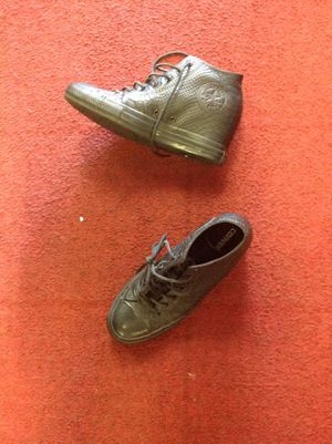 Black converse high shoes size 11 for Sale in Las Vegas, NV