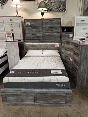 Queen Storage Bed Frame, Grey, #B221 for Sale in Santa Fe Springs, CA