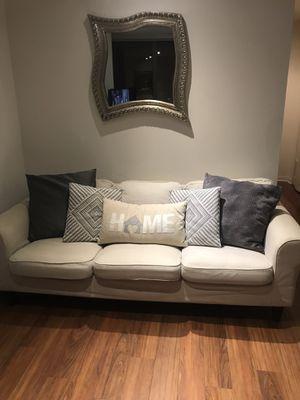 Cream colored Couch w/ Gray cover for Sale in Chicago, IL