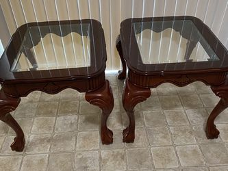 Wood And Glass End Tables for Sale in Spanaway,  WA