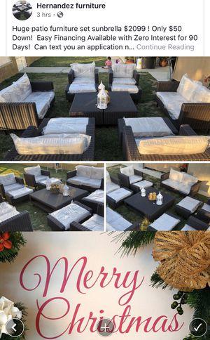 Brand new wicker patio set.. sunbrella cushions for Sale in Riverside, CA