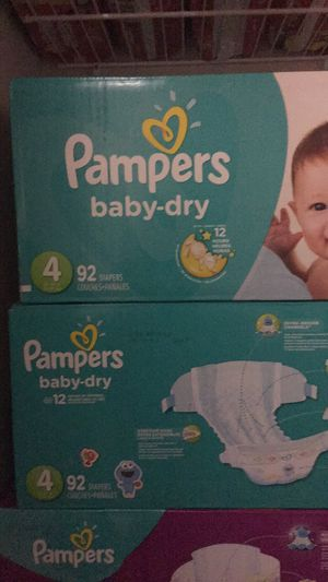 Pampers, size 4, count 92 for Sale in Arlington, VA