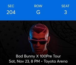 Bad bunny tickets for Sale in Baldwin Park, CA