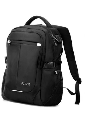 Anti Theft Business Backpack for Women & Men, Slim Durable Travel Computer Bag, Waterproof College School Bookbag with USB Charging Port Fits 15.6 In for Sale in Tustin, CA