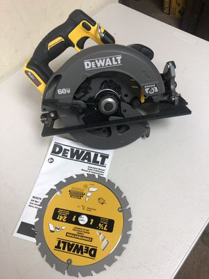 DEWALT FLEXVOLT 60-Volt MAX Lithium-Ion Cordless Brushless 7-1/4 in. Circular Saw (Tool-Only) for Sale in Arlington, TX
