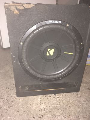 "Speakers kicker 12"" amp for Sale in Newman, CA"