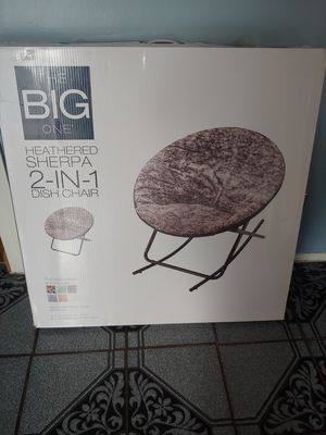 Heather sherpa 2-in-1 dish chair for Sale in Bolingbrook, IL