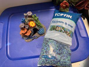 Top fin aquarium gravel and aquarium decoration for Sale in American Fork, UT