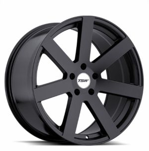2 TSW MATTE BLACK RIMS AND CONTINENTAL RUNFLATS for Sale in Peabody, MA