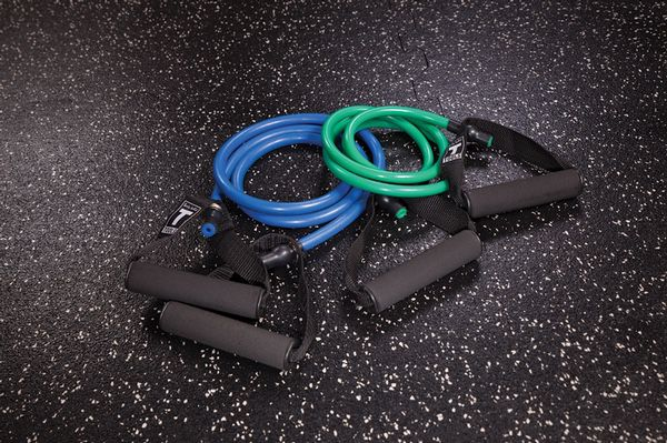 Core Essentials Home Gym Equipment Pack (Resistance Bands, Exercise Ball, Workout Mat, Dumbbells, Push-up Bars, Ab Wheel, Fitness Jump Rope)